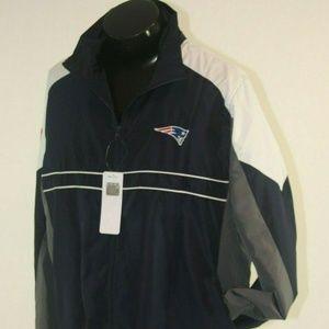 New England Patriots NFL Windbreaker Jacket Large